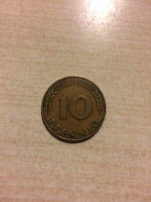 Münze 10 Pfennig Bank Deutscher Länder 1949 J