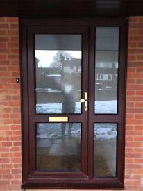 Zenith Brown Double Glazed Door & Side Panel