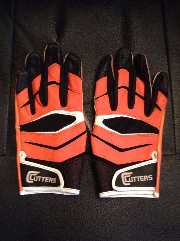 Cutters X40 American Football Gloves Size Medium Orange In