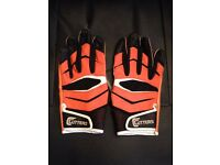 Cutters X40 American Football Gloves, Size Medium, Orange