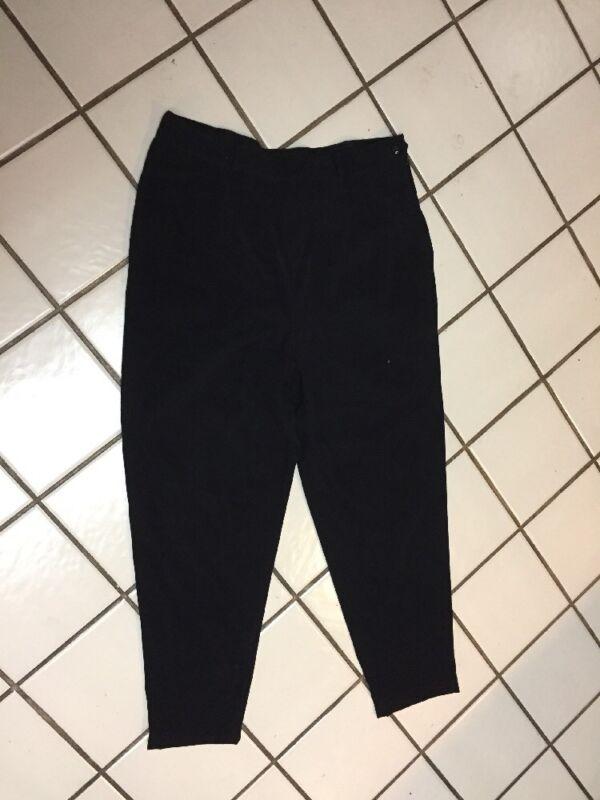 Coldwater Creek Black faux suede Side Zip Career Casual Pants Petite L