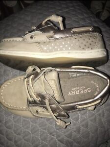 Girl's Size 10 Sperry Boat Shoes - Excellent Condition