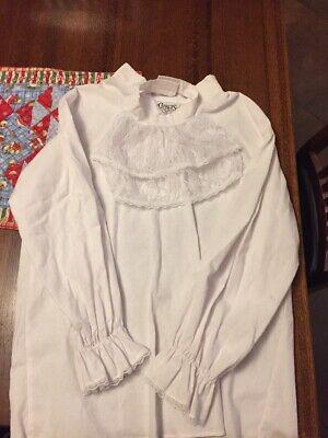 Mens Victorian Vampire Costume (Men's Pirate Vampire Costume Shirt Victorian Medieval White Dracula)