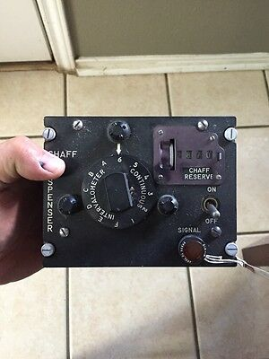Vintage Military Aircraft Chaff Dispenser Control Box B-52