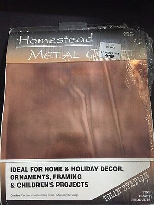 """NEW Homestead Metal Craft A603-1  8x10"""" Embossing Tooling Punch Sheets"""