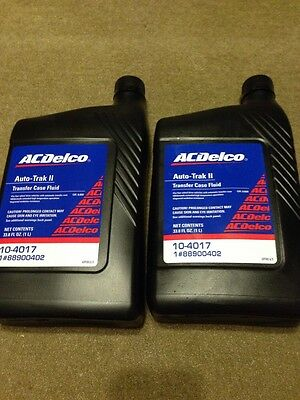 2 pcs Genuine GM ACDelco Transfer Case Fluid Auto-Trak II 33.8OZ 10-4017