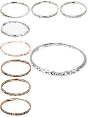 Womens Sentimental Bangle Jewellery Bridesmaid Friendship Bracelet Fashion New