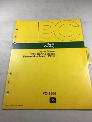 John Deere 3200 Spring Reset Moldboard Plow Parts Catalog Manual