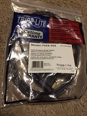 NEW Tripp Lite P456006 Null Modem Cable P456-006