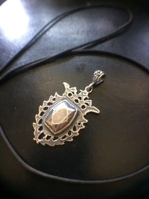 Medieval Knights Inspired Silver Hand Crafted Artisan Good Luck Pendent
