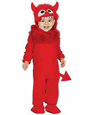 Baby / Kleinkind Teufel Monster Kostüm Kinderkostüm Muppet Rot Jumpsuit Gr 80 - Monster Baby Kostüm