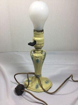 Vintage Viktorianisch Tischleuchte Creme Baby Blau Tischleuchte - Lampe Viktorianische Tisch Lampe