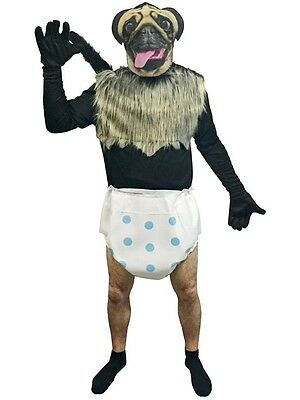 Puppy Monkey Baby Adult Mens Costume, Halloween, Rasta Imposta MOUNTAIN DEW (Puppy Monkey)