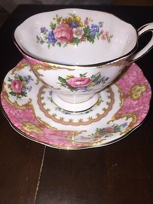 Vintage Royal Albert 'Lady Carlyle' Pattern Bone China Tea Cup and Saucer