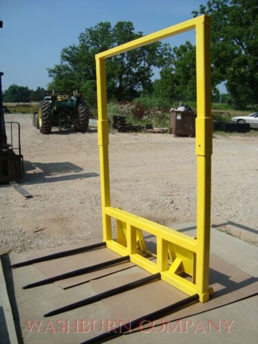 Skid steer Hay Mover with 4 Spear w/ Removable Topper