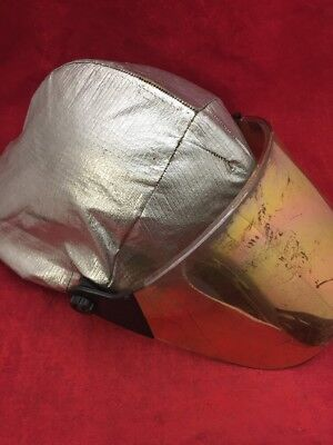 Cairns Fire Fighter Helmet Turnout Gear White Wcover Visor Unit 1