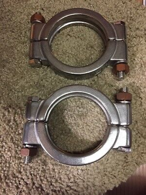 Mhp Part - Lot Of 2 - Bolted Sanitary Clamp, 304 Stainless Steel 2-1/2