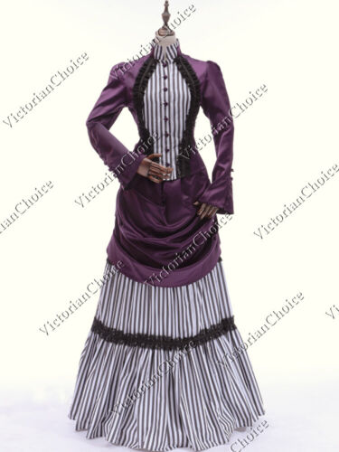 Victorian Edwardian Steampunk Mary Poppins Bustle Dress Theatrical Gown 139