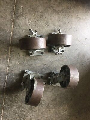 8 X 3 Heavy Duty Casters Made In Canada Locking Swivels W Brakes