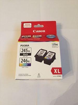 "Canon PG-245XL/CL-246XL Black/Color Ink Cartridges "" New Sealed Retail"""