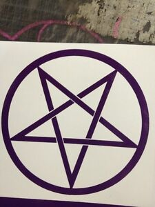 Pentagram-Vinyl-Decal-Purple-Size-90-Mm-By-90-Mm