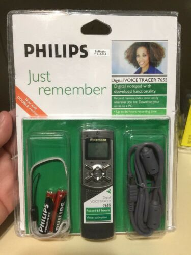 NEW Philips Voice Tracer 7655 Digital Voice Recorder 128MB Memory RECORD 66 Hrs