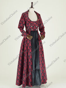 Edwardian Victorian Sherlock Holmes Brocade Halloween Coat Dress Wear N C058 L