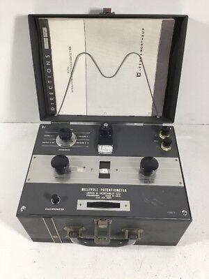 Leeds Northrup Millivolt Potentiometer Galvanometer 8691