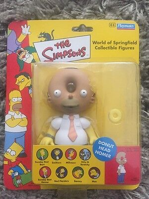 Donut head homer figure - The Simpsons World of springfield - Rare
