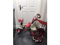 Smart Trike Dream, Pink 4 in 1, excellent condition