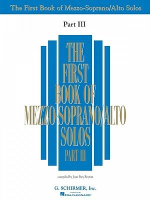 First Book of Mezzo-Soprano Solos Part III Vocal Collection Book NEW 050485885