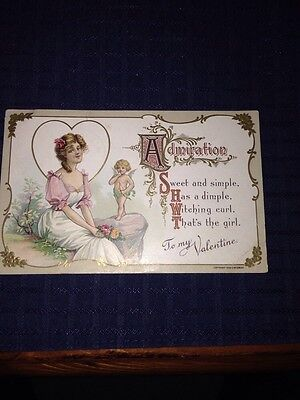 Antique Valentine, 1910 Postmark