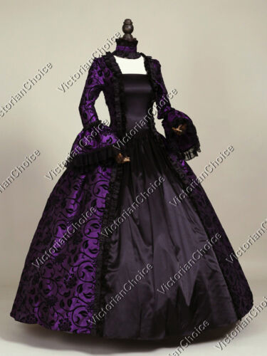 Renaissance Gothic Fairytale Floral Dress Steampunk Theatre Evening Gown 119
