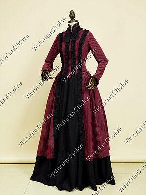 Dark Gothic Victorian Dress Vampire Witch Steampunk Halloween Costume N 175 XXXL