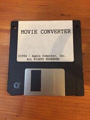 Vintage Macintosh Movie Converter Floppy Disk Mac Software 1994 Movie Converter