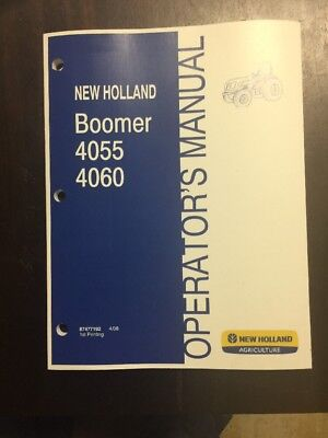 New Holland Boomer 4055 4060 Series Non-cab Tractor Manual 87477192
