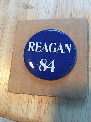 1984 Regan 84 Election Button Rare