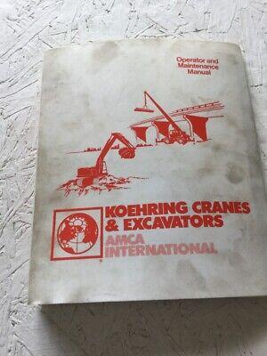 Koehring 666e Excavator Operators Maintenance Manual