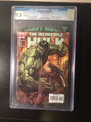 Incredible Hulk 100B Cgc 9 8 Whitepages   Planet Hulk   Michael Turner Greg Pak