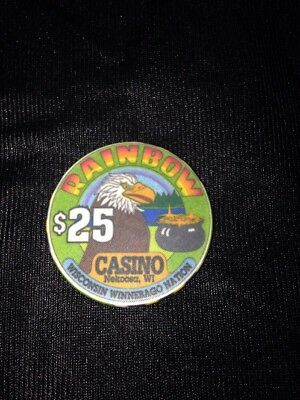 Rainbow Casino $25 Eagle Pot Of Gold Casino Chip Nekoosa WI - Rainbow Pot Of Gold