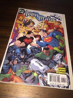 Teen Titans Vs JLA #6 Feb '04 JOHNS MCKONE ALQUIZA SEALED