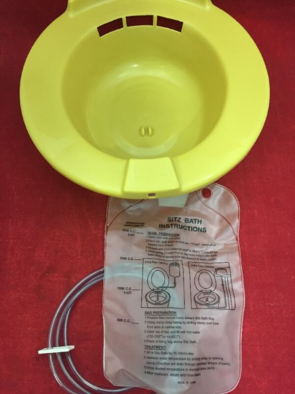 New Case Of 10 Medical Action Sitz Bath With Bag Gold H990-05