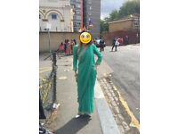 Mint turquoise saree - worn once!