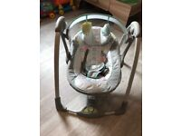baby swing, 2 in 1 hugs & toots ingenuity