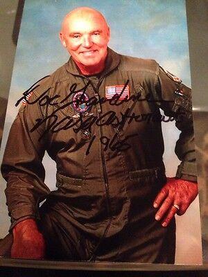 NASA Astronaut Duane Doc Graveline Signed 4x6 Photo Auto DEC