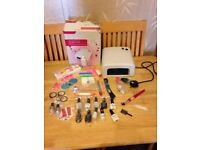BIG BUNDLE - Professional UV Nail Gel Lamp + Nail Art Tools, UV gels and other