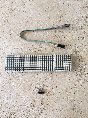 Wangdd22 Max7219 Dot Matrix Module For Arduino Microcontroller 4 In 1 Display