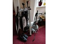 Golf Clubs With Carrying Bag, Cart And Shoes