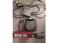 Canon 70D DSLR Camera, Only 5287 Shutter Count, Body Only, Digital SLR