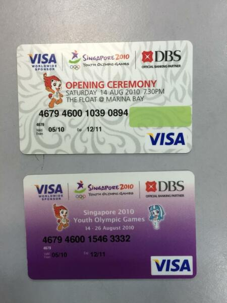 2010 SYOG Commemoration cards
